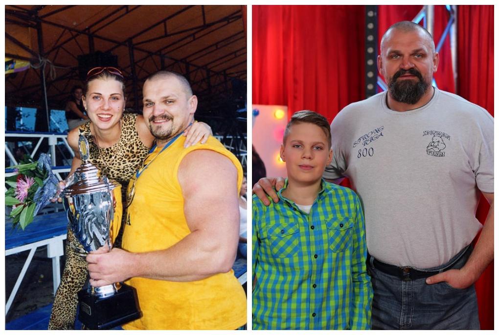 Василь Вірастюк з покійною дружиною та сином