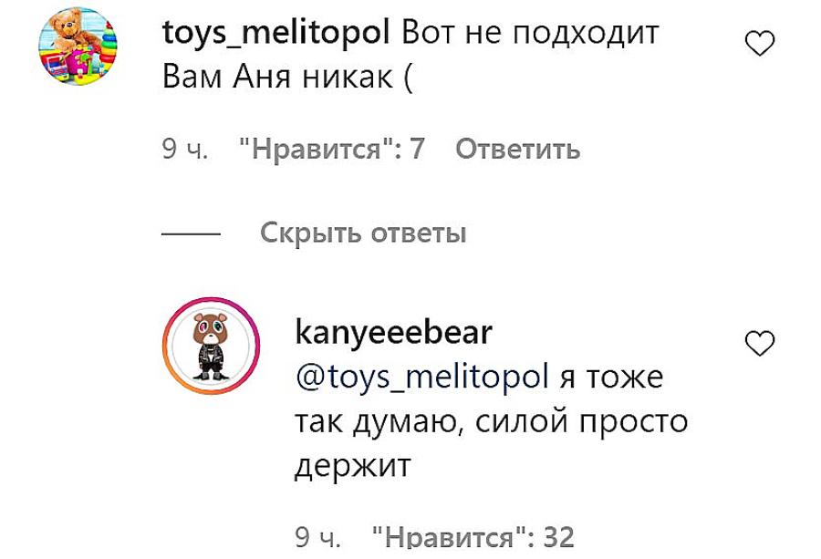Коментарі під фото Михайла і Анни
