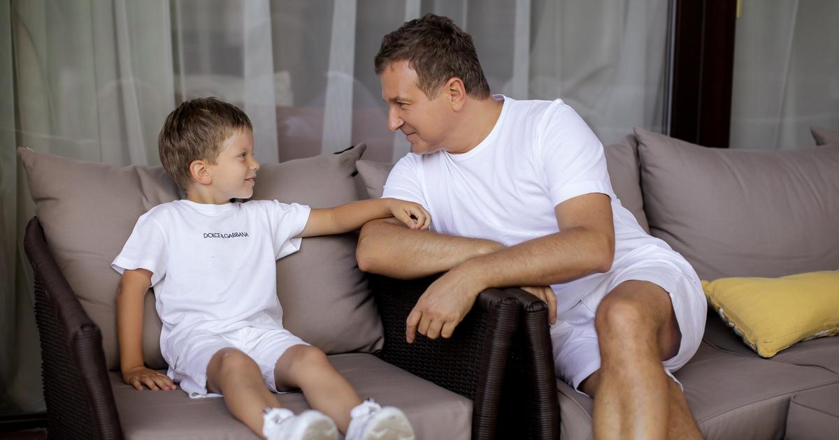 Юрій Горбунов зі старшим сином від Каті Осачої Івасиком