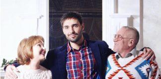 Віталій Козловський з батьками