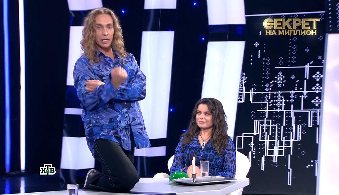Тарзан і Наташа Корольова у студії шоу Секрет на мільйон