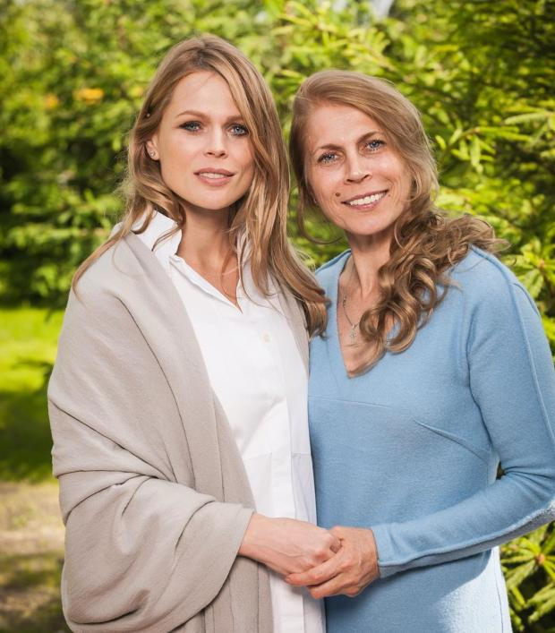 Оля Фреймут з мамою
