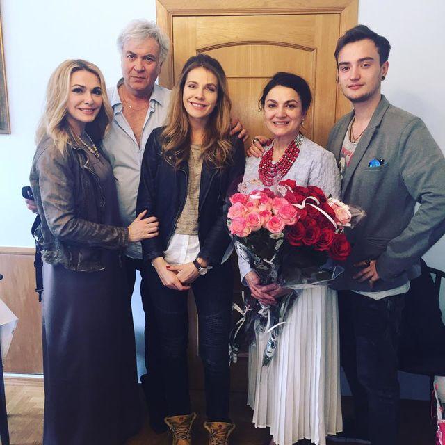 Ольга Сумська з донькою та Наталя Сумська з сином