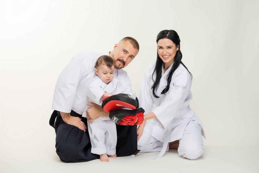 Людмила Барбір з чоловіком і сином
