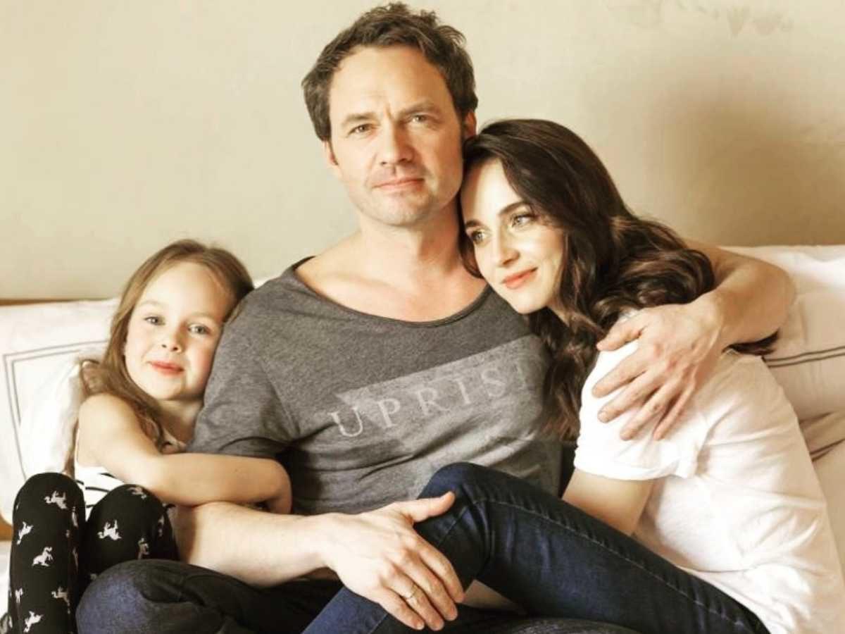Анна Снаткіна з чоловіком і донькою